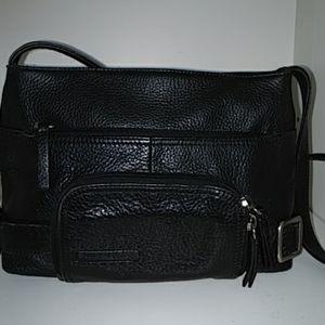 Stone Mountain Black Pebbled Leather Natalie Purse